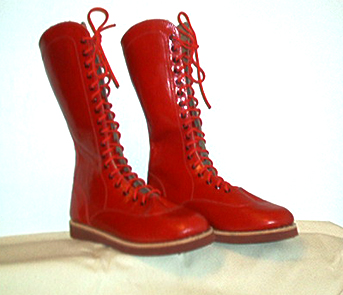 RD Wrestling Boots --Red Kid Leather