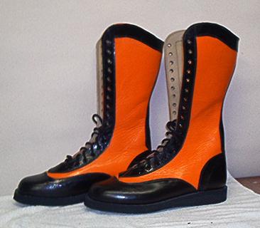 RD Wrestling Boots --Black and Orange