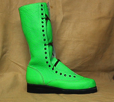 What Is Leather Made Of >> RD Wrestling Boots --Lime Green Boots--
